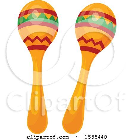 Clipart of Maracas - Royalty Free Vector Illustration by Vector Tradition SM