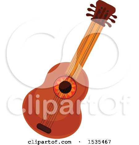 Clipart of a Guitar - Royalty Free Vector Illustration by Vector Tradition SM
