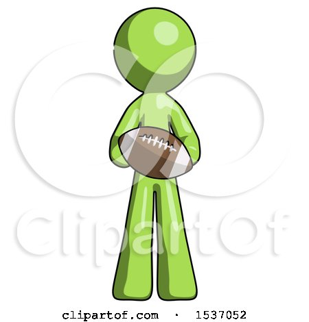 Green Design Mascot Man Giving Football to You by Leo Blanchette