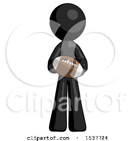 Black Design Mascot Man Giving Football to You by Leo Blanchette
