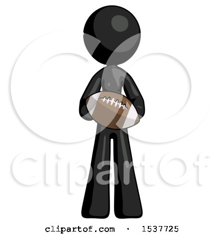 Black Design Mascot Woman Giving Football to You by Leo Blanchette