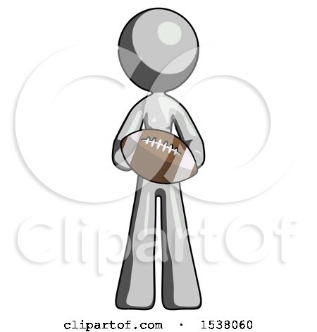 Gray Design Mascot Woman Giving Football to You by Leo Blanchette