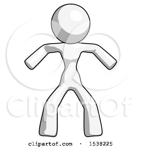 White Design Mascot Woman Sumo Wrestling Power Pose by Leo Blanchette