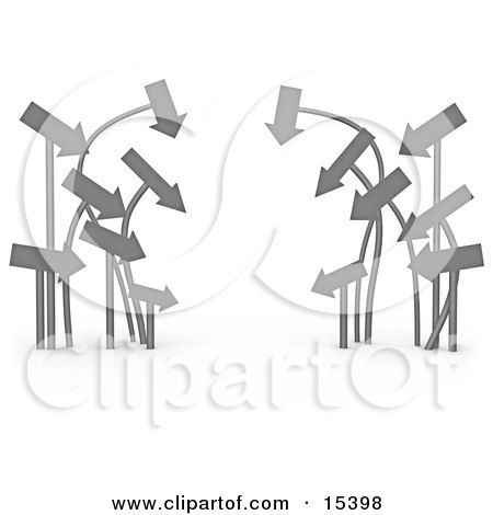 Cluster Of Arrows Leading In The Same Direction  Posters, Art Prints