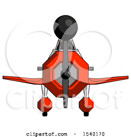 Black Design Mascot Woman in Geebee Stunt Plane Front View by Leo Blanchette