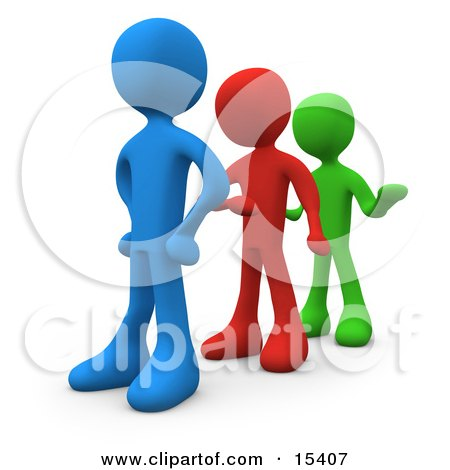Line Of Different Colored People Getting Impatient And Tired Of Waiting Clipart Illustration Image