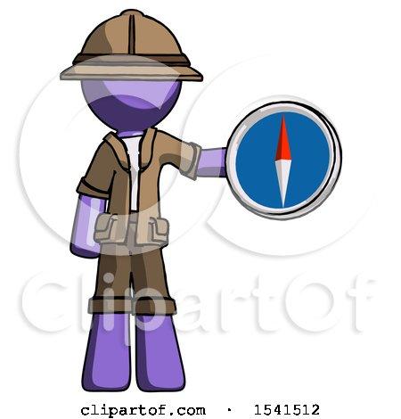 Purple Explorer Ranger Man Holding a Large Compass by Leo Blanchette