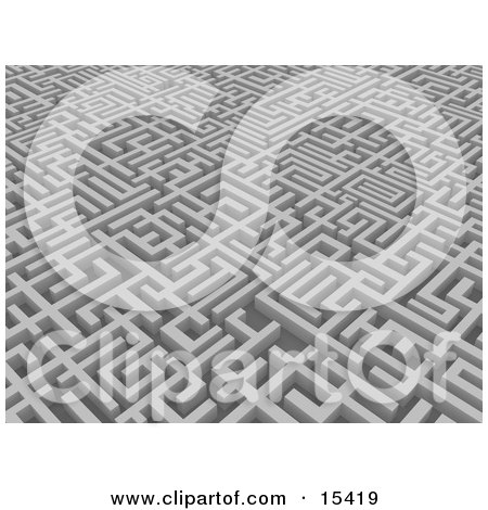 Blue Background Of A Huge And Confusing Maze Clipart Illustration Image by 3poD