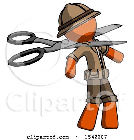 Orange Explorer Ranger Man Scissor Beheading Office Worker Execution by Leo Blanchette