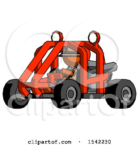 Orange Explorer Ranger Man Riding Sports Buggy Side Angle View by Leo Blanchette