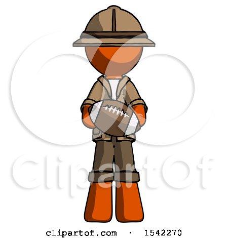 Orange Explorer Ranger Man Giving Football to You by Leo Blanchette