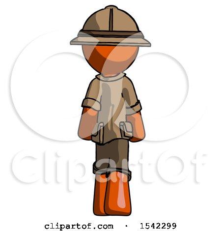 Orange Explorer Ranger Man Walking Away, Back View by Leo Blanchette