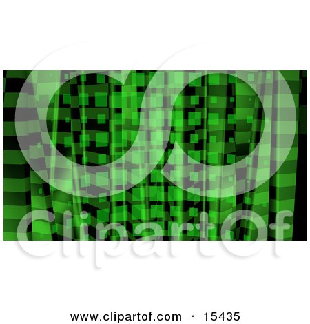 Green Abstract Background With Squares  Posters, Art Prints