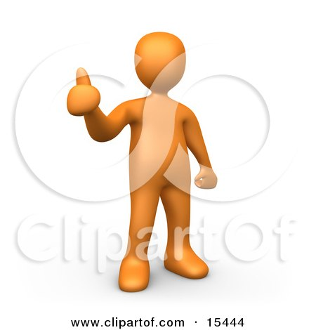 Orange Person Giving the Thumbs up Clipart Illustration Image by 3poD