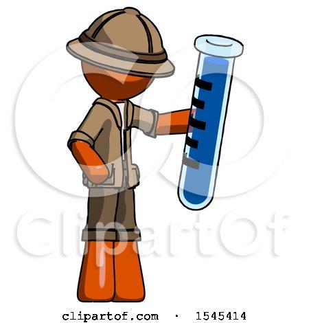 Orange Explorer Ranger Man Holding Large Test Tube by Leo Blanchette