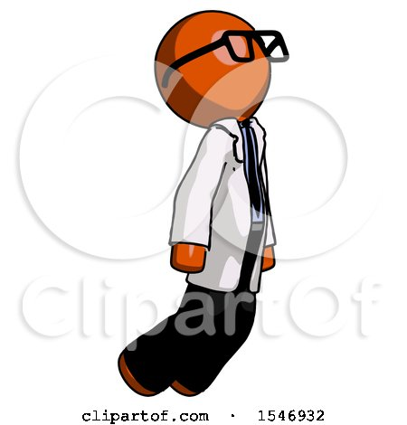 Orange Doctor Scientist Man Floating Through Air Right by Leo Blanchette