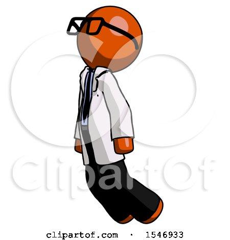 Orange Doctor Scientist Man Floating Through Air Left by Leo Blanchette