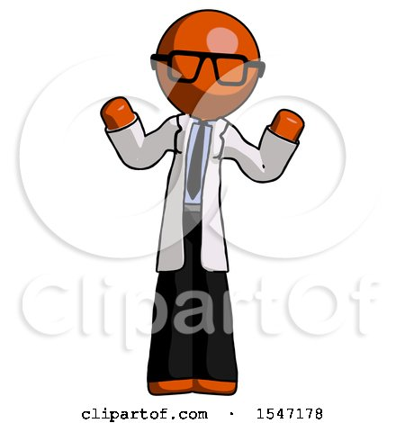 Orange Doctor Scientist Man Shrugging Confused by Leo Blanchette