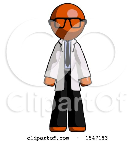 Orange Doctor Scientist Man Standing Facing Forward by Leo Blanchette