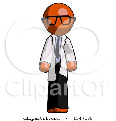 Orange Doctor Scientist Man Walking Front View by Leo Blanchette