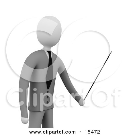 Businessman, Boss Or Manager, Holding A Pointer Stick During A Presentation, Training Class Or Meeting  Posters, Art Prints