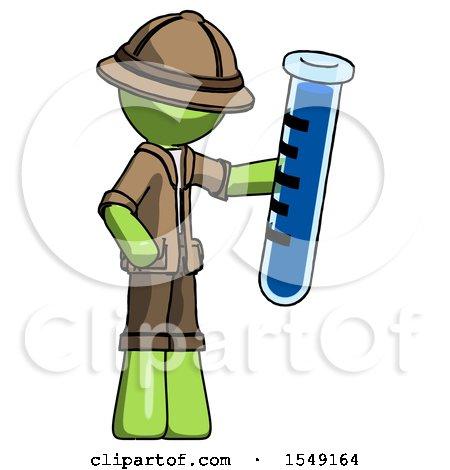 Green Explorer Ranger Man Holding Large Test Tube by Leo Blanchette