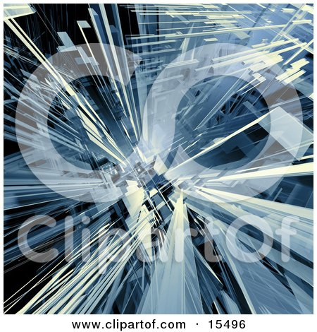 Blue Abstract Background With Shards Resembling Glass Clipart Illustration Image by 3poD