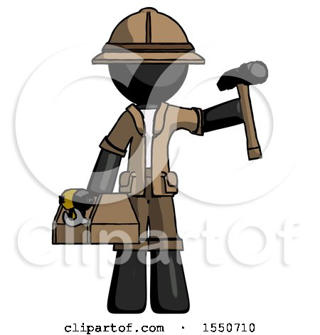 Black Explorer Ranger Man Holding Tools and Toolchest Ready to Work by Leo Blanchette