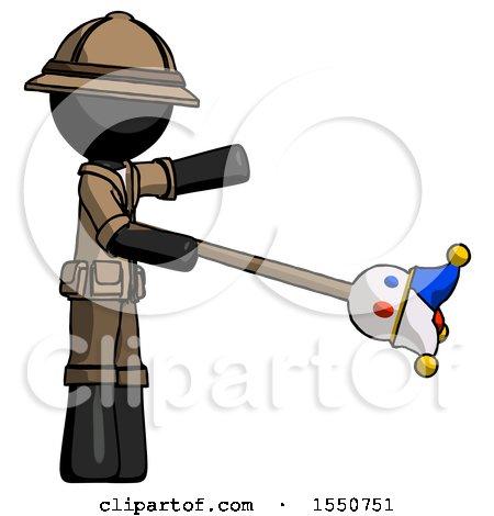 Black Explorer Ranger Man Holding Jesterstaff - I Dub Thee Foolish Concept by Leo Blanchette