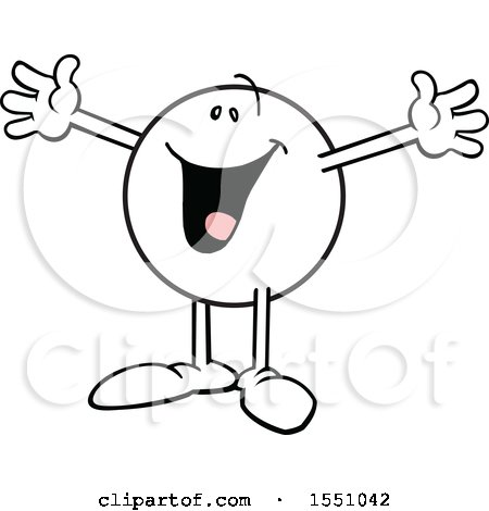Clipart of a Moodie Character Gesturing This Big - Royalty Free Vector Illustration by Johnny Sajem