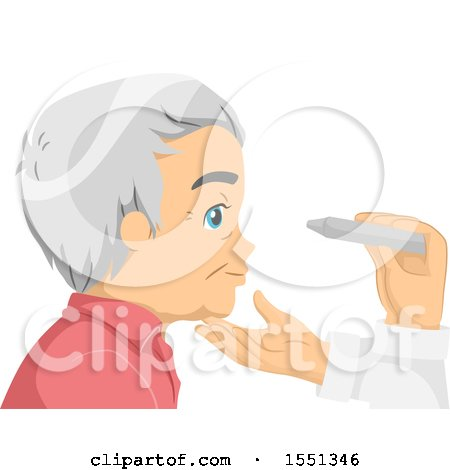 Clipart of a Senior Man Getting an Eye Exam - Royalty Free Vector Illustration by BNP Design Studio