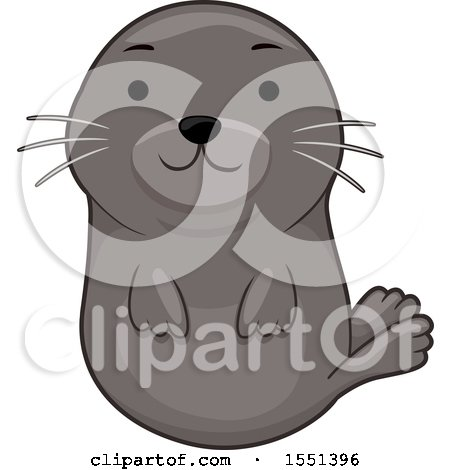 Clipart of a Cute Seal - Royalty Free Vector Illustration by BNP Design Studio