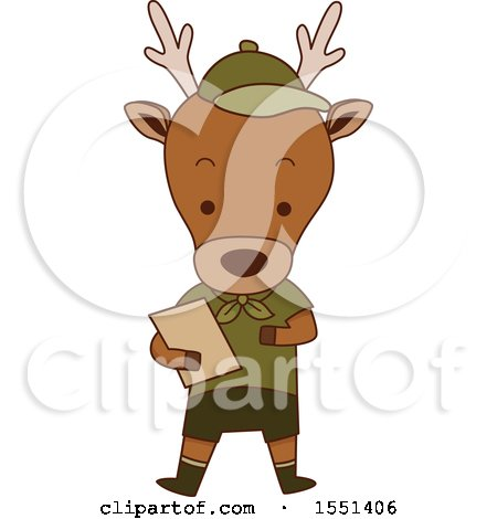 Clipart of a Deer Scout - Royalty Free Vector Illustration by BNP Design Studio