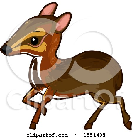 Clipart of a Cute Mouse Deer - Royalty Free Vector Illustration by BNP Design Studio