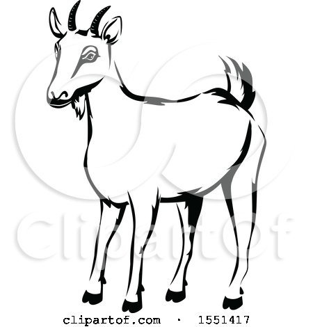 clipart black and white goat clipart ampvector labs �