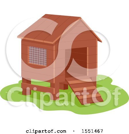 Clipart Of A Small Chicken Coop