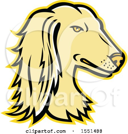 Clipart of a Persian Greyhound Dog Mascot Head - Royalty Free Vector Illustration by patrimonio