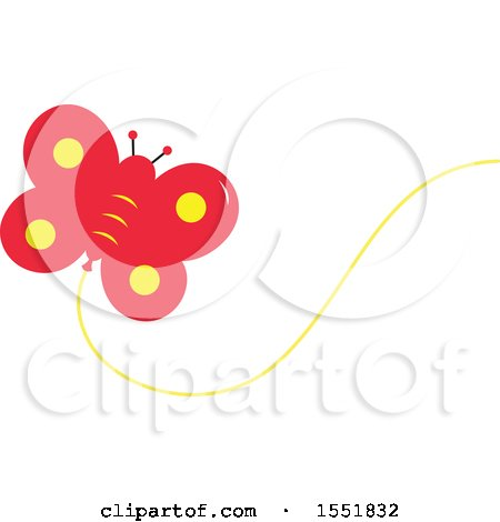 Clipart of a Butterfly Balloon - Royalty Free Vector Illustration by Cherie Reve
