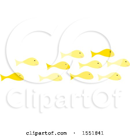 Clipart of a School of Fish - Royalty Free Vector Illustration by Cherie Reve