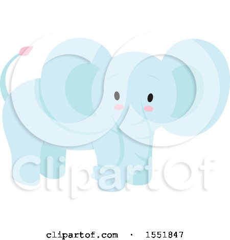 Cute Blue Baby Elephant Posters, Art Prints