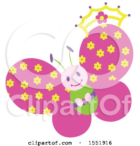 Clipart of a Butterfly - Royalty Free Vector Illustration by Cherie Reve