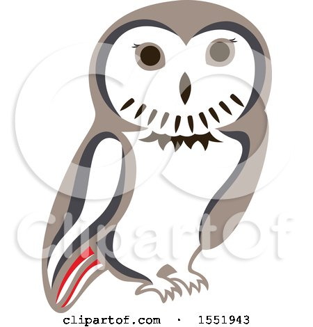 Clipart of a Cute Owl Forest Animal - Royalty Free Vector Illustration by Cherie Reve