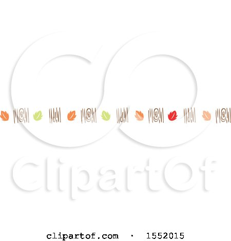Clipart of a Wood and Autumn Leaf Border - Royalty Free Vector Illustration by Cherie Reve