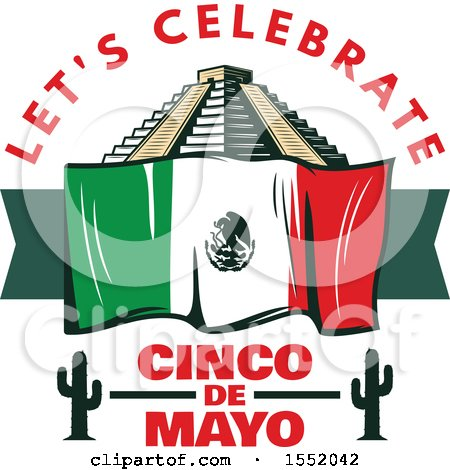 Clipart of a Retro Styled Cinco De Mayo Design - Royalty Free Vector Illustration by Vector Tradition SM