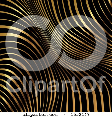 Clipart of a Black and Golden Stripe Background - Royalty Free Vector Illustration by KJ Pargeter