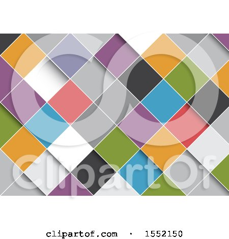Clipart of a Background of Colorful Diamonds - Royalty Free Vector Illustration by KJ Pargeter