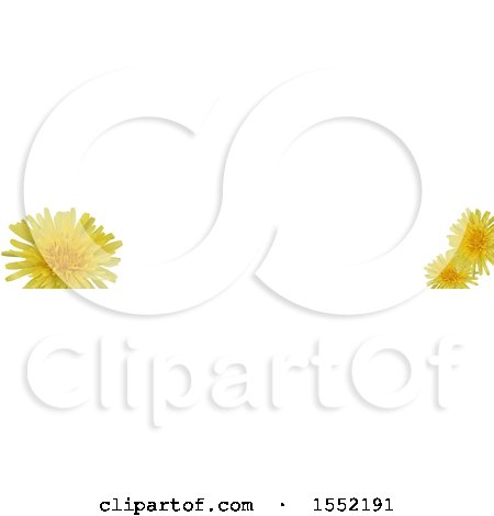 Clipart of a Dandelion Flower Border - Royalty Free Vector Illustration by dero