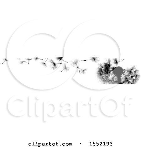 Wishey Blow Dandelion Seed Border Posters, Art Prints