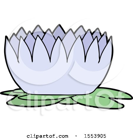 cartoon water lily by lineartestpilot 1553906 rh clipartof com