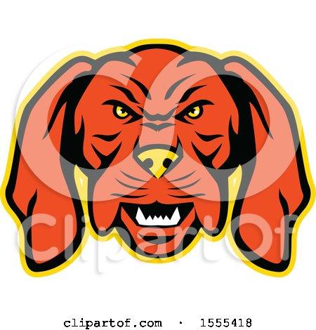 Clipart of a Retro Vizsla Dog Mascot Head - Royalty Free Vector Illustration by patrimonio